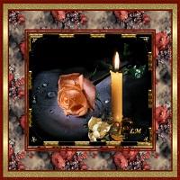Горит свеча, стекает воск